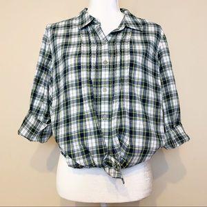 J.jill Plaid Collared Buttondown Longsleeve Shirt